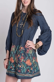 Ivy Jane / Uncle Frank  Embroidered Denim Dress - Front cropped