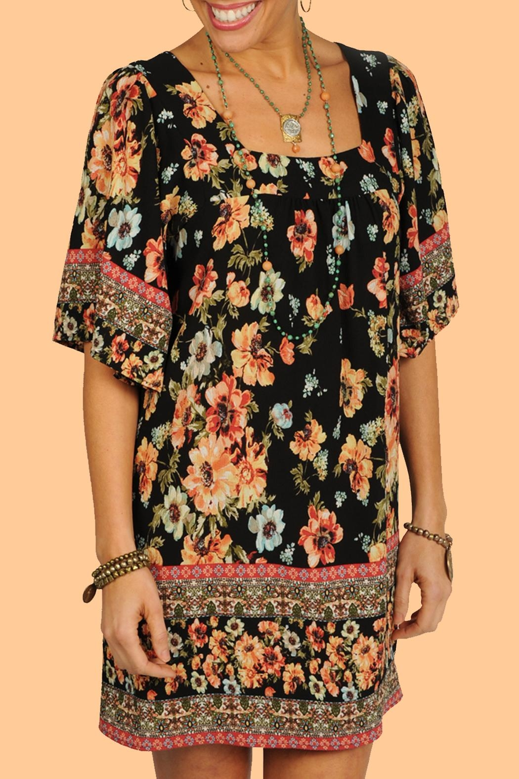 Ivy Jane / Uncle Frank  Floral Pleated Tunic - Front Cropped Image