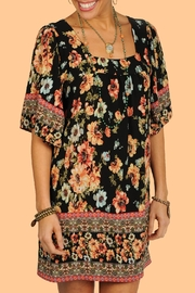 Ivy Jane / Uncle Frank  Floral Pleated Tunic - Front cropped