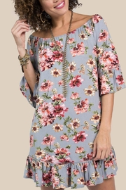 Ivy Jane / Uncle Frank  Grey Floral Dress - Product Mini Image