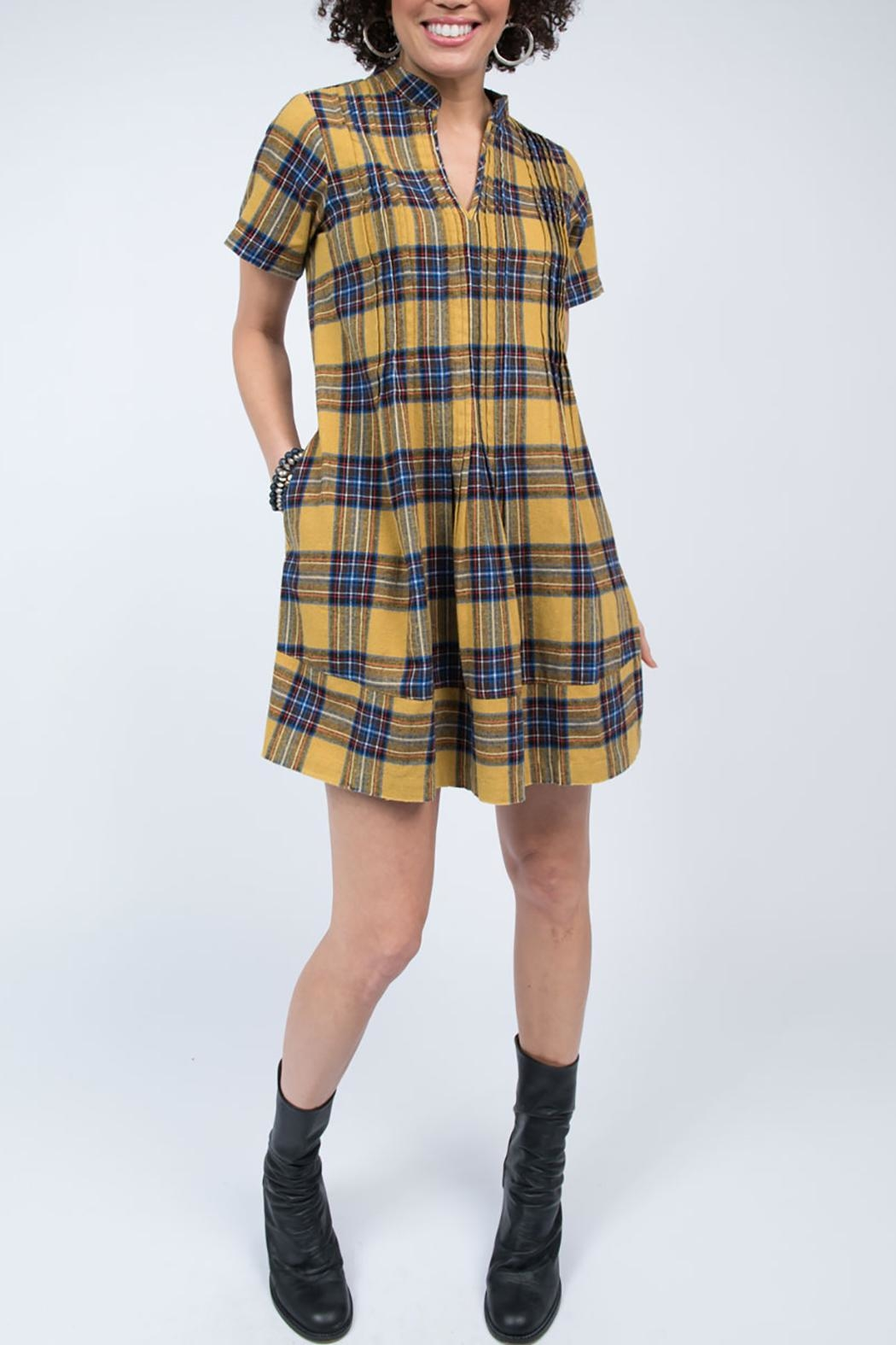 Ivy Jane / Uncle Frank  Plaid Flannel Dress - Front Full Image
