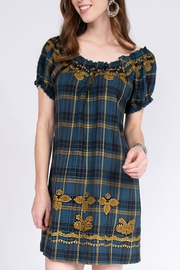 Ivy Jane / Uncle Frank  Plaid Peasant Dress - Front cropped