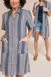 Ivy Jane / Uncle Frank  Striped Tunic Shirt - Front cropped