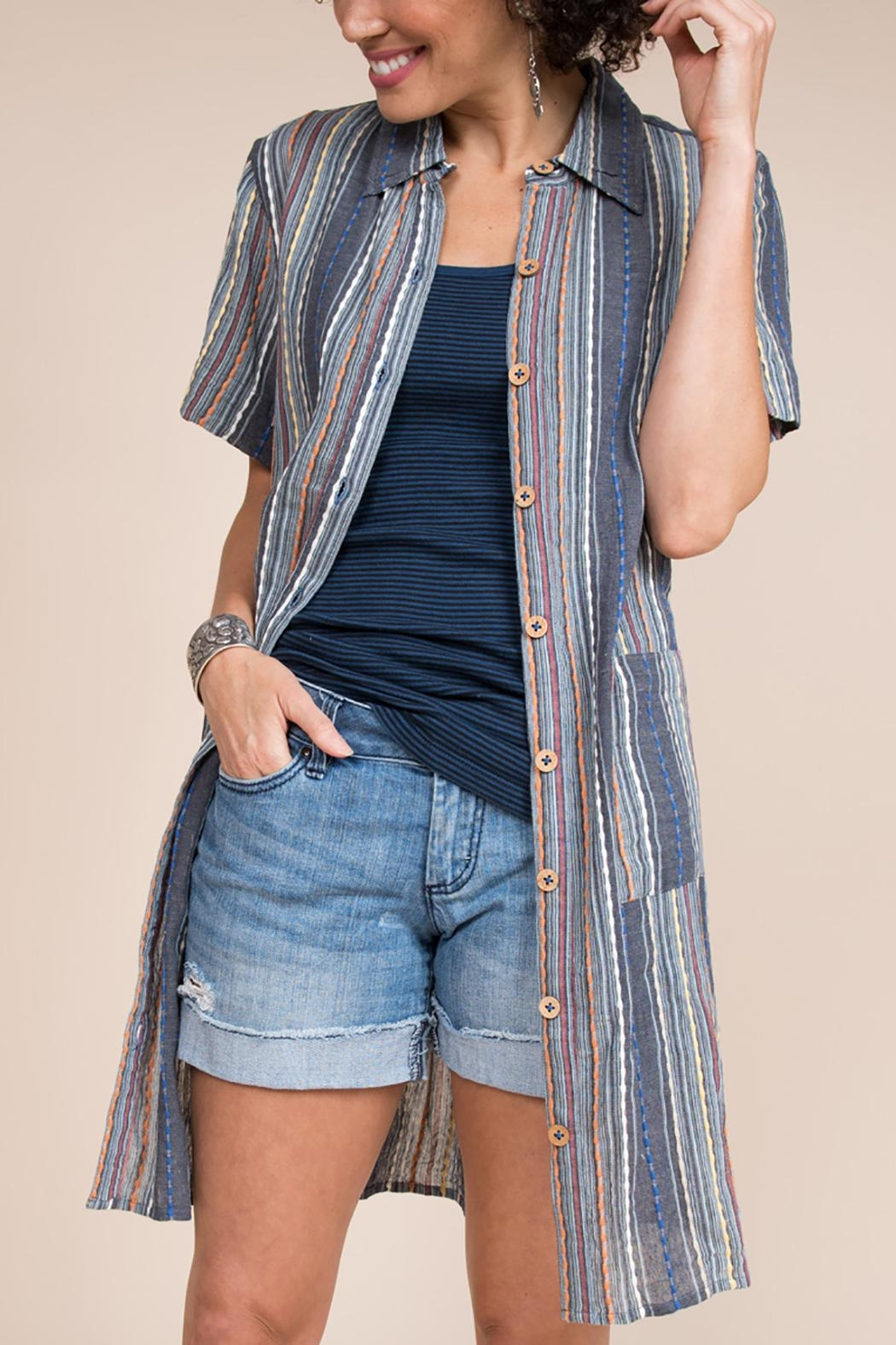 Ivy Jane / Uncle Frank  Striped Tunic Shirt - Front Full Image