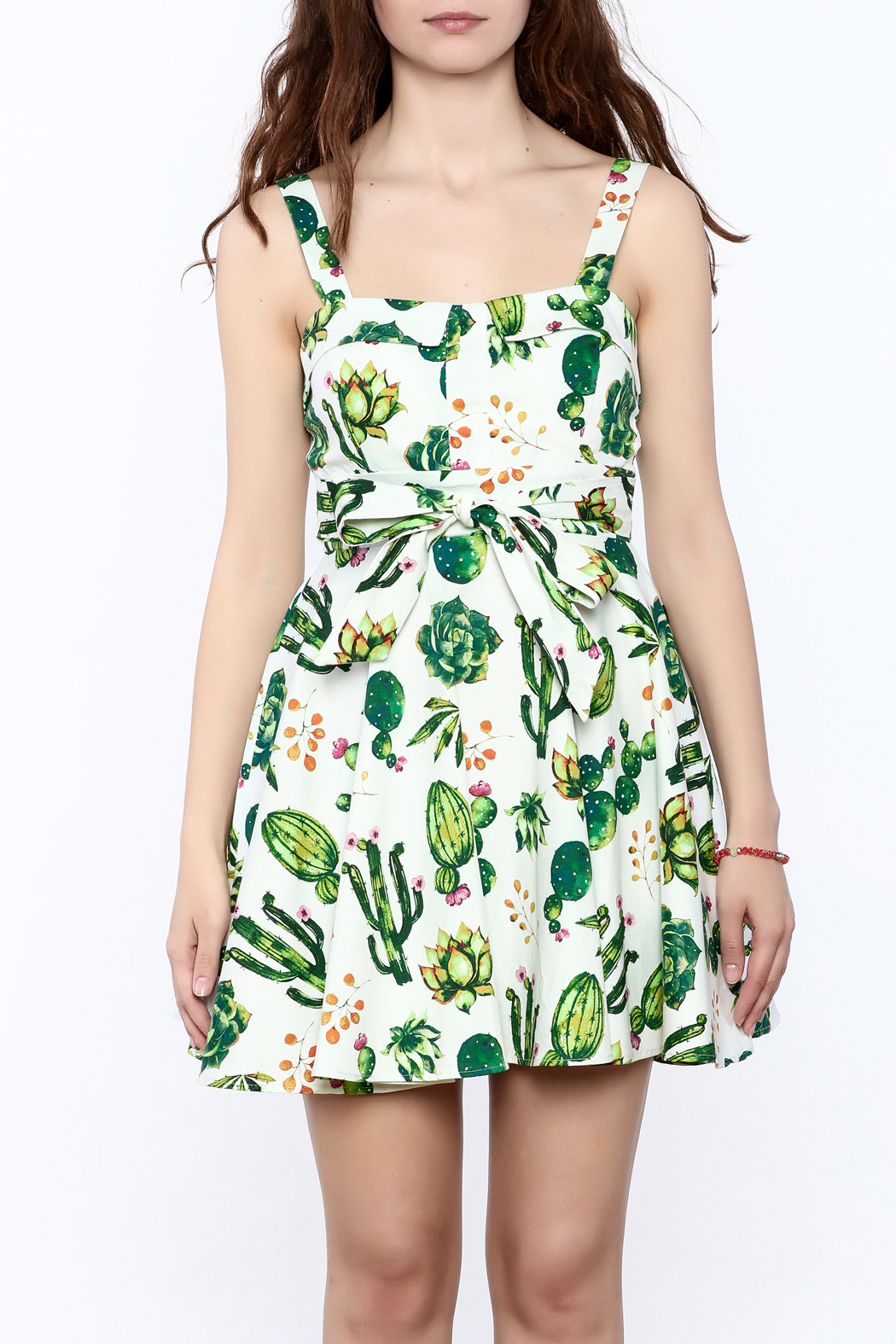 Ixia Fun Cactus Print Dress - Side Cropped Image