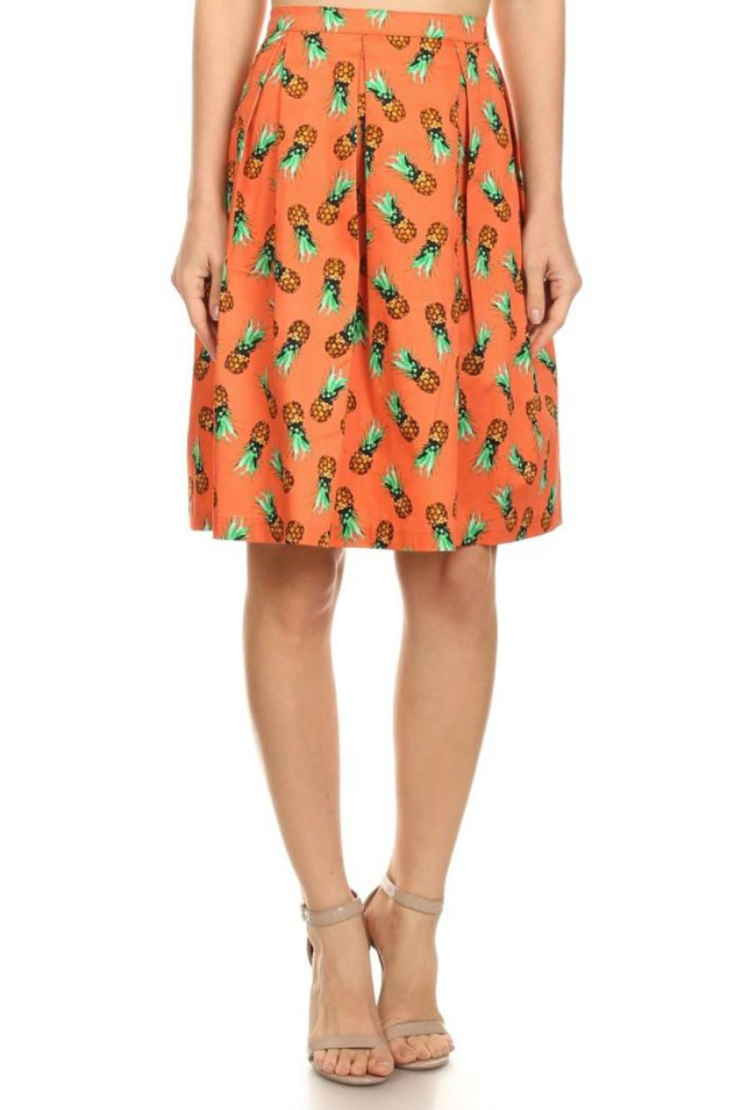 Ixia Pineapple Flare Skirt - Front Cropped Image