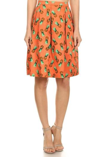 Shoptiques Product: Pineapple Flare Skirt - main