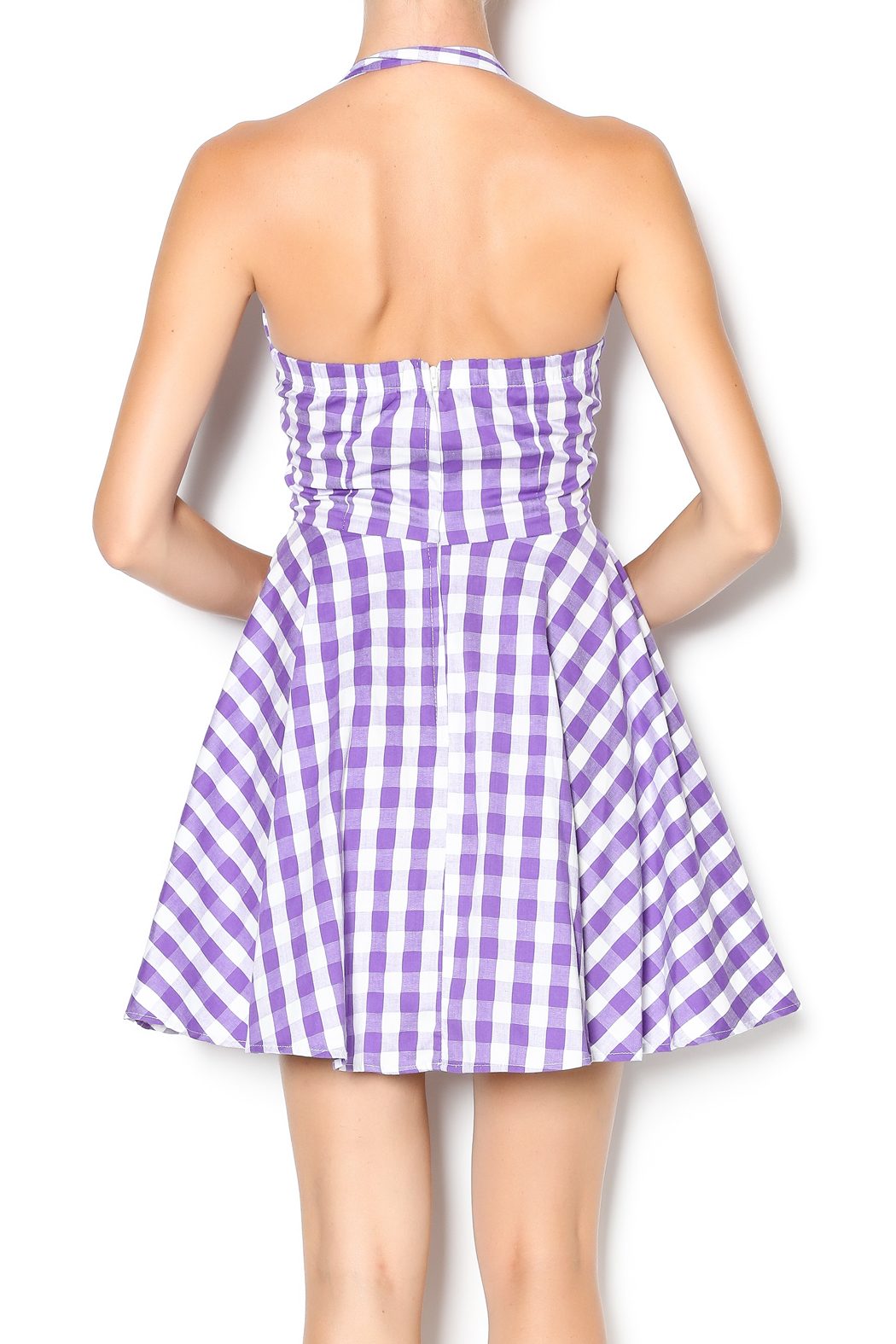 Ixia Purple Gingham Dress From California By Mp Couture