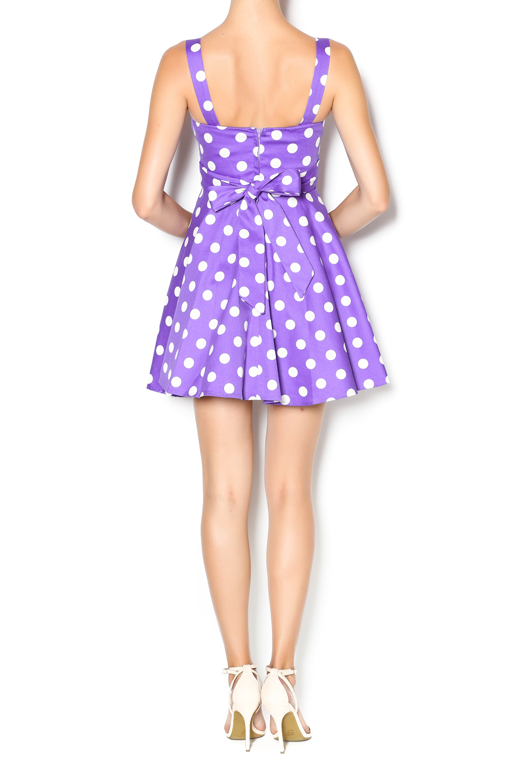 Ixia Purple Polka Dot Dress from California by MP Couture — Shoptiques