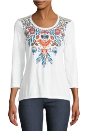 Johnny Was Izamal Embroidered Tee - Product Mini Image