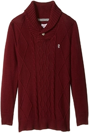 Izod Shawl Collar Sweater - Front cropped