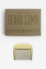 Izola Brass Beard Comb - Front cropped