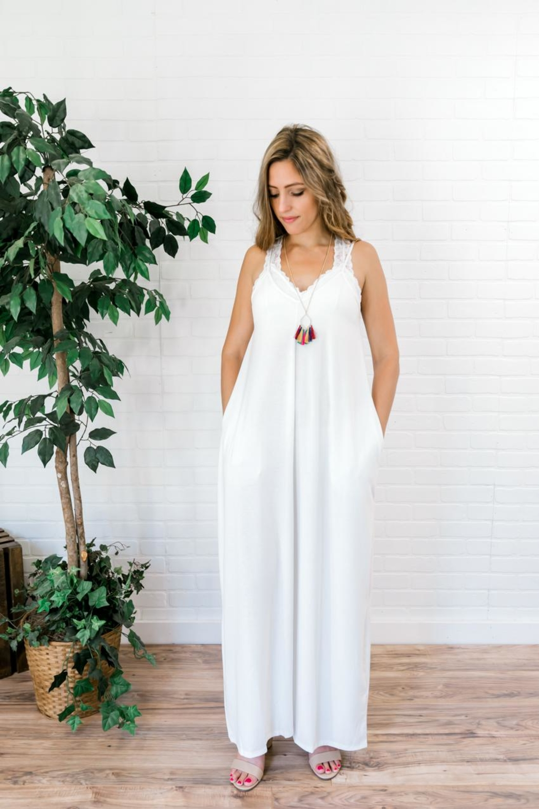 Izzie's Boutique Best White Maxi - Back Cropped Image