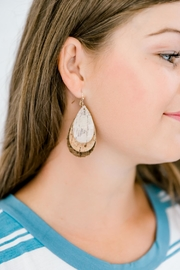 Izzie's Boutique Brown Cork Earrings - Product Mini Image