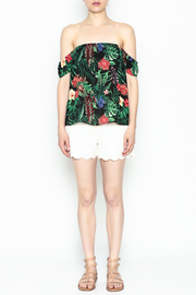 Izzy & Lola Cabana Tropical Top - Front full body