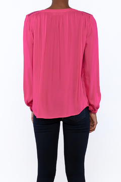 Izzy & Lola Hot Pink Embroidery Blouse - Alternate List Image