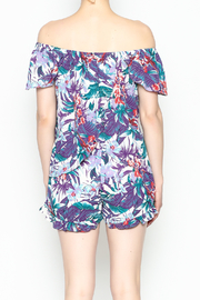 Izzy & Lola Tropical Long Beach Top - Back cropped