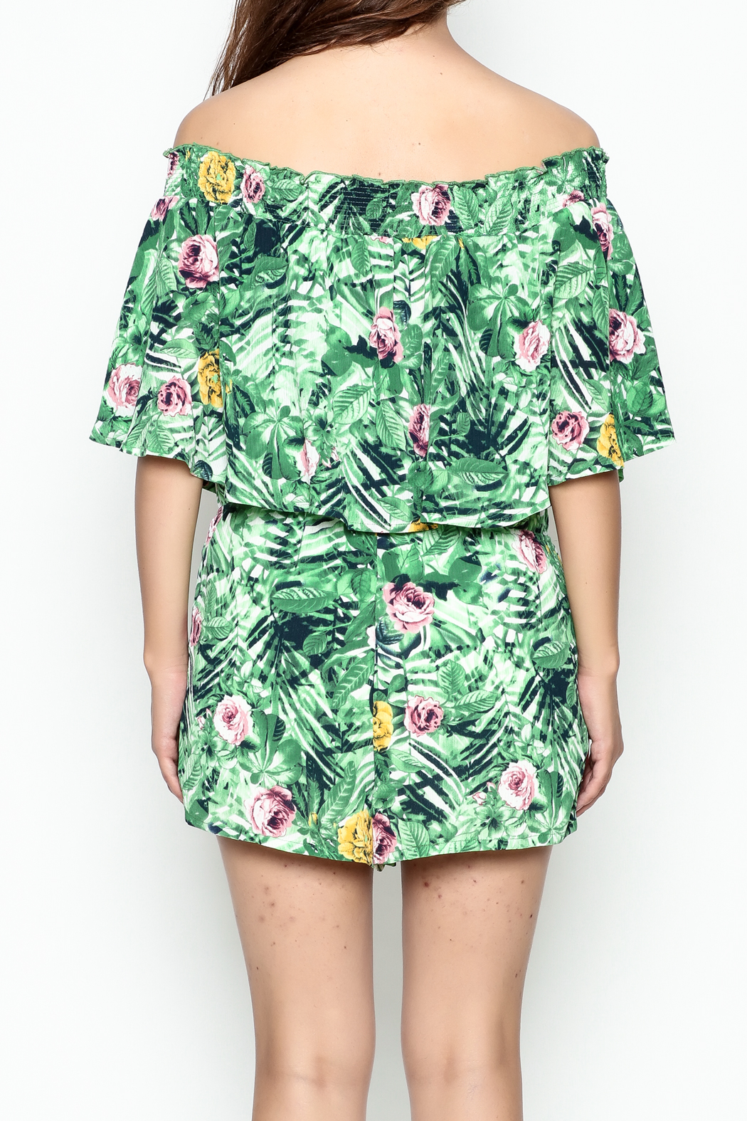Izzy & Lola Tropical Newport Romper - Back Cropped Image