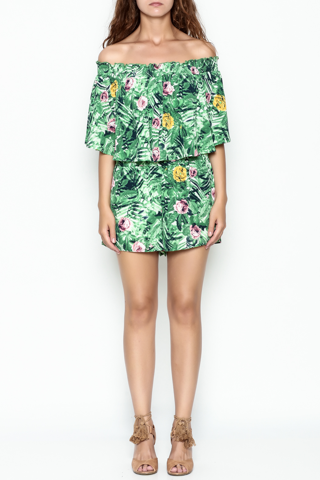 Izzy & Lola Tropical Newport Romper - Front Full Image