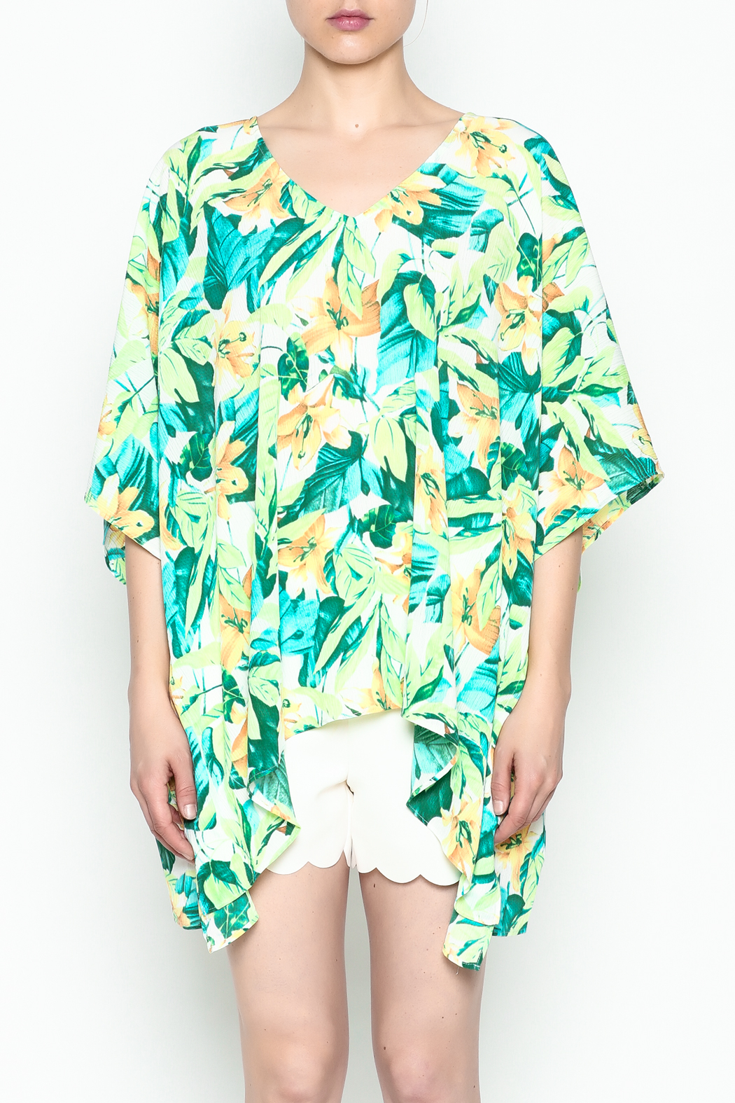 Izzy & Lola Tropical North Tunic - Front Cropped Image