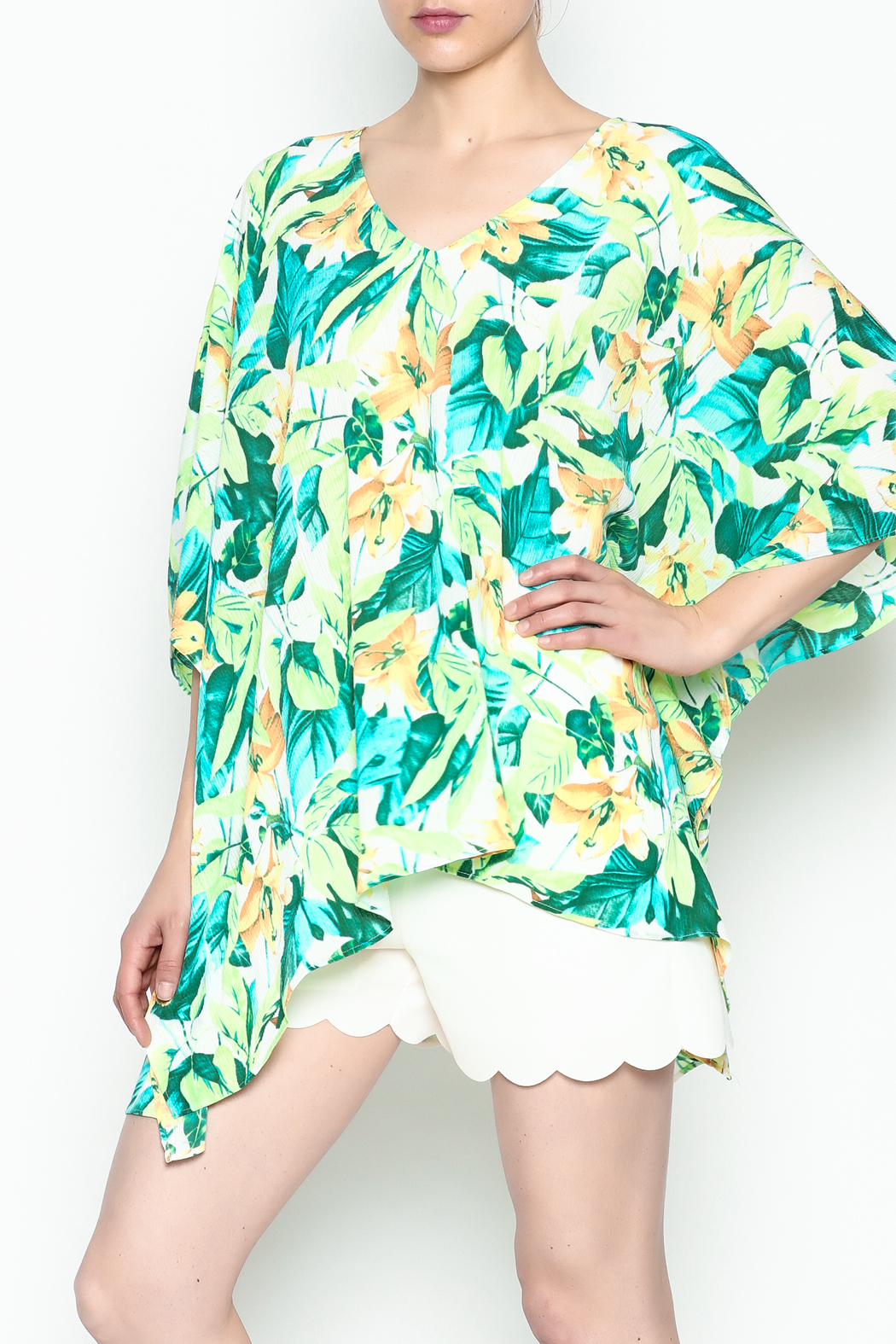 Izzy & Lola Tropical North Tunic - Side Cropped Image