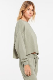 z supply Izzy Loop Terry Top - Front full body