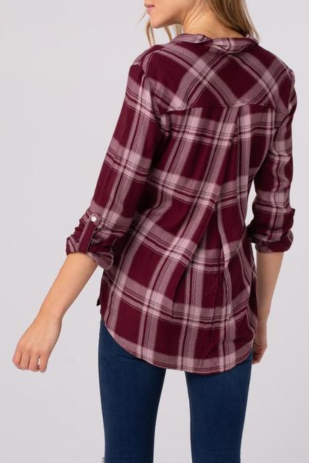 Thread & Supply Izzy Plaid Shirt - Side Cropped Image