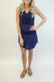 Izzy & Lola Lace Navy Dress - Front cropped