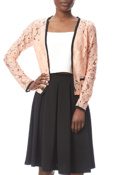 Shoptiques Product: Peach Lace Jacket