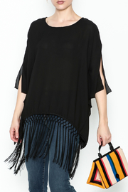J Ci Black Fringe Poncho - Product Mini Image