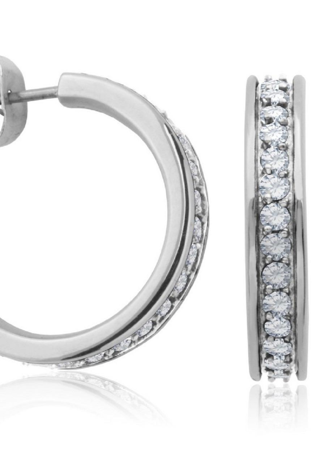 Bling It Around Again J Hoop Earrings - Front Full Image