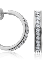 Bling It Around Again J Hoop Earrings - Front full body