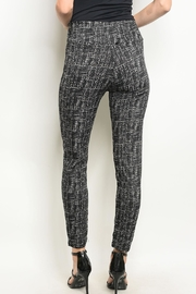 J&K Lining Printed Leggings - Front full body