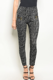 J&K Lining Printed Leggings - Front cropped