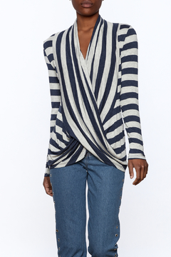 J Mode Navy Stripped Top - Product List Image