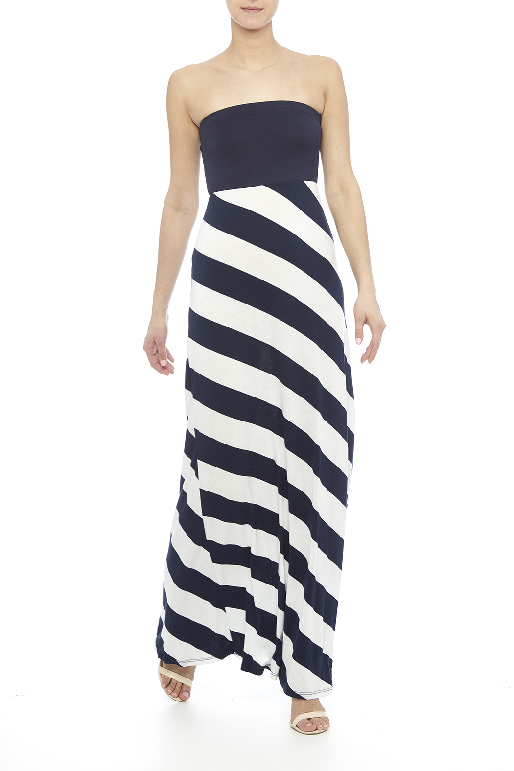 J Mode USA Striped Maxi Dress from Minneapolis by StyleTrolley ...