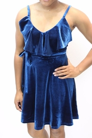 J.O.A. Blues Velvet Dress - Product Mini Image