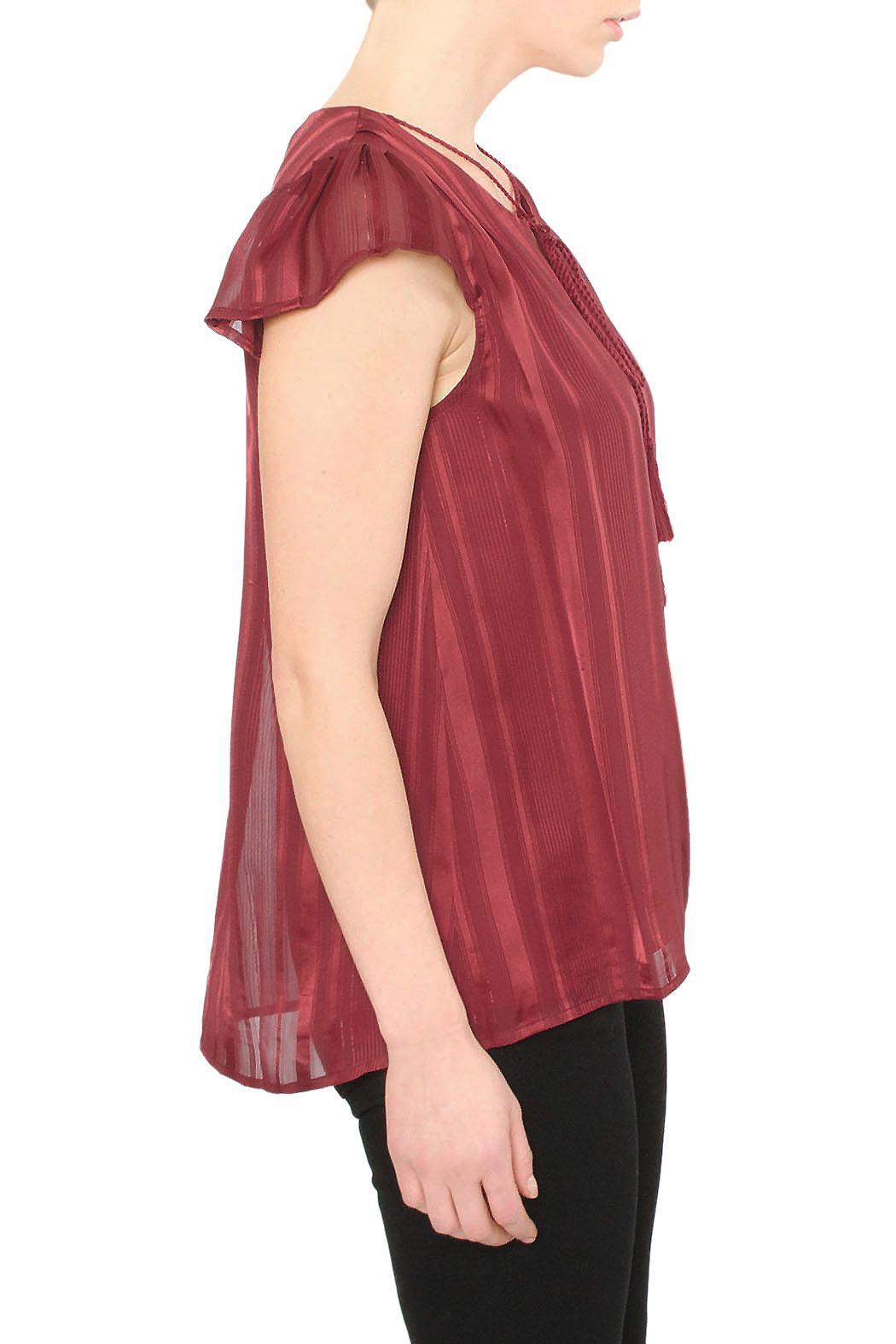J.O.A. Burgundy Red Blouse - Front Full Image