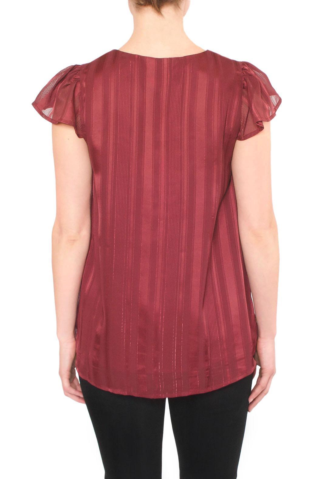 J.O.A. Burgundy Red Blouse - Side Cropped Image