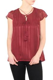 J.O.A. Burgundy Red Blouse - Product Mini Image