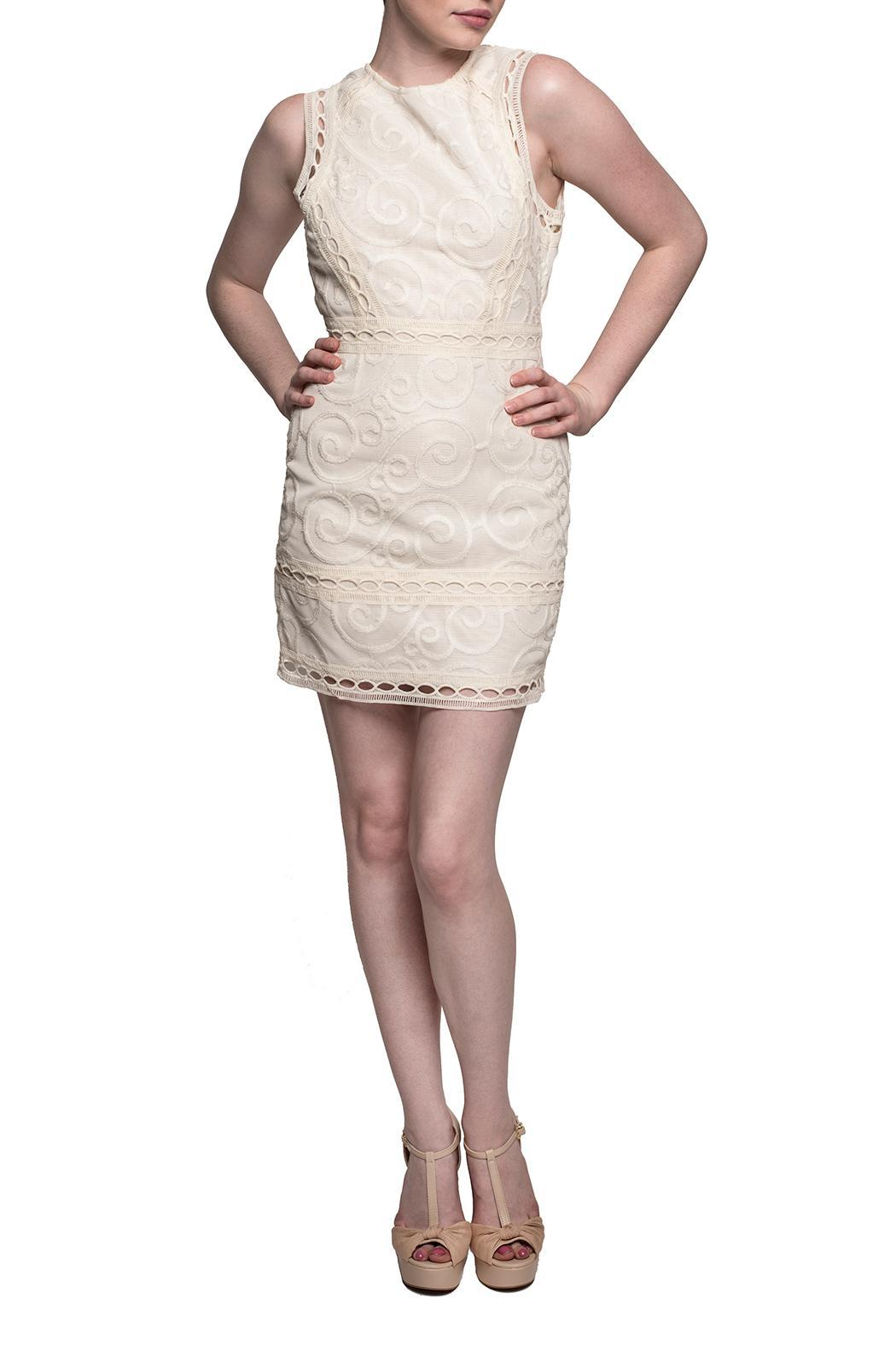 J.O.A. Victoria Lace Dress - Front Cropped Image