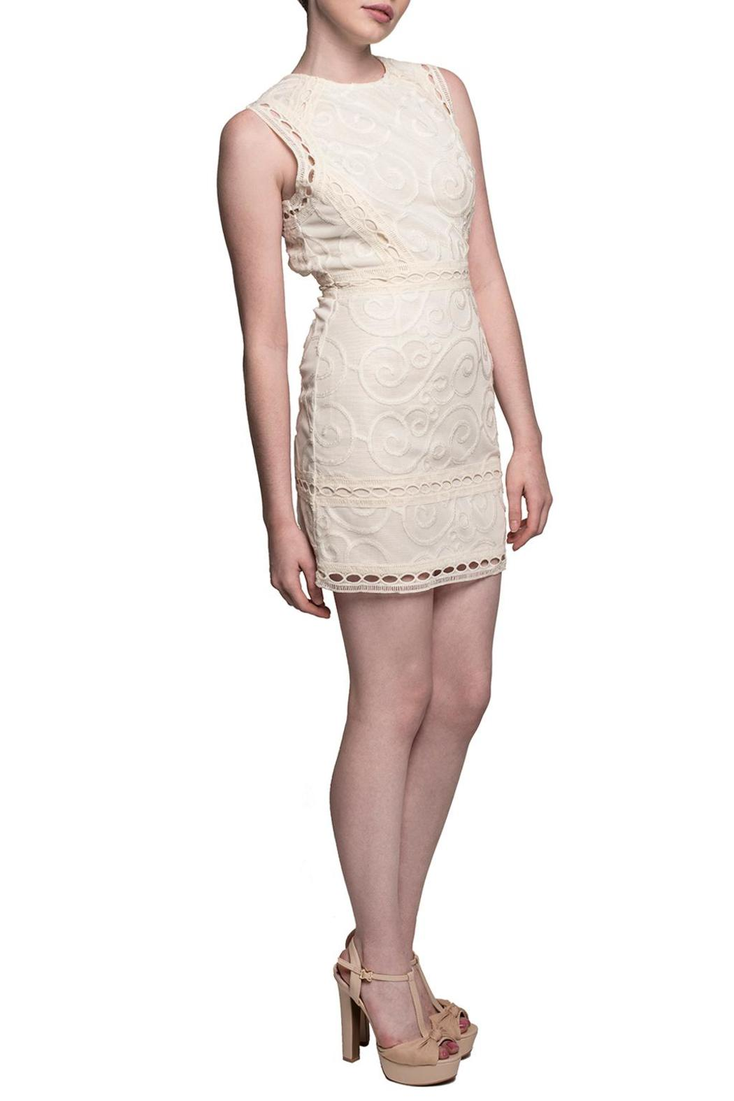 J.O.A. Victoria Lace Dress - Front Full Image