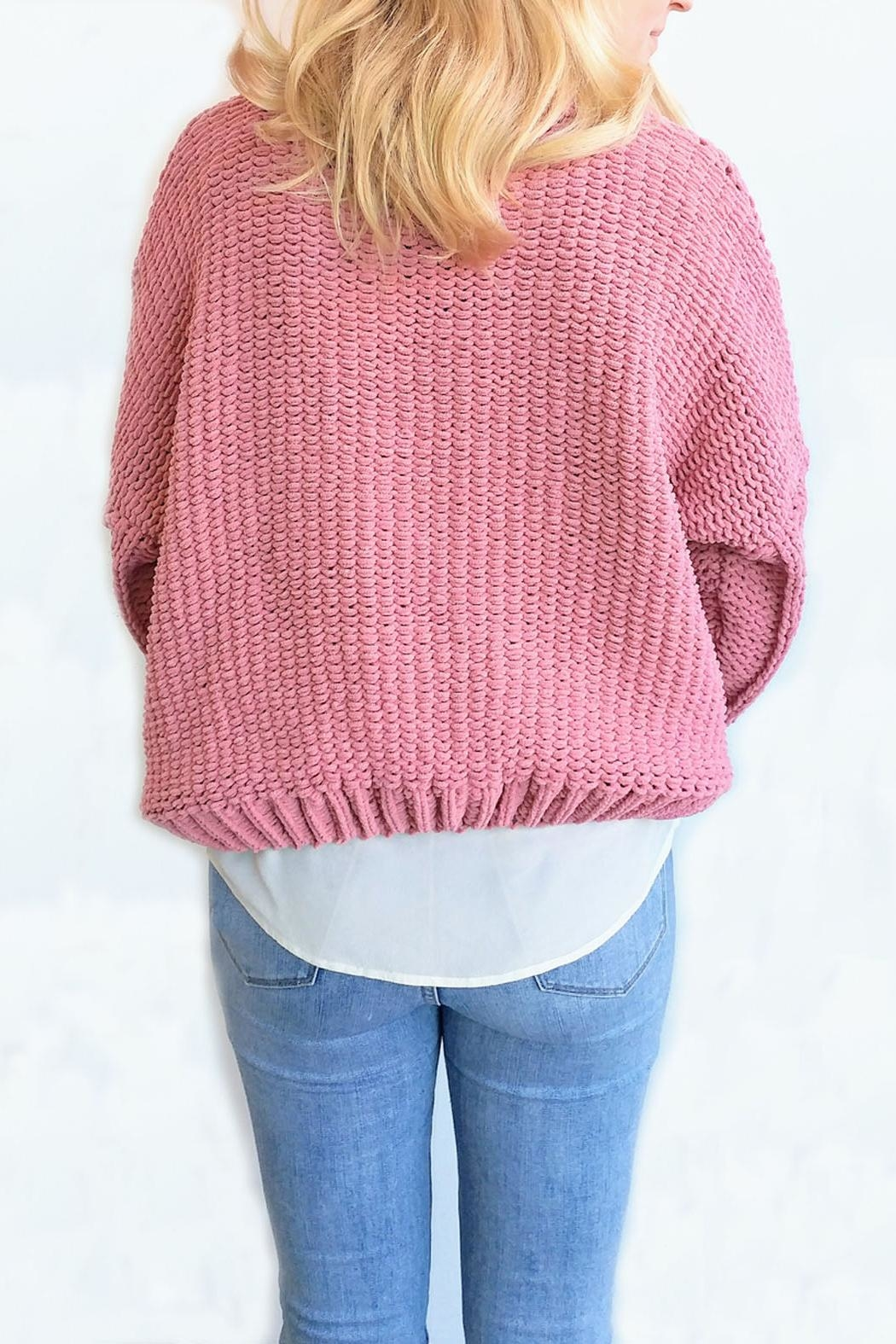 J.O.A. Chunky Cable Sweater - Side Cropped Image