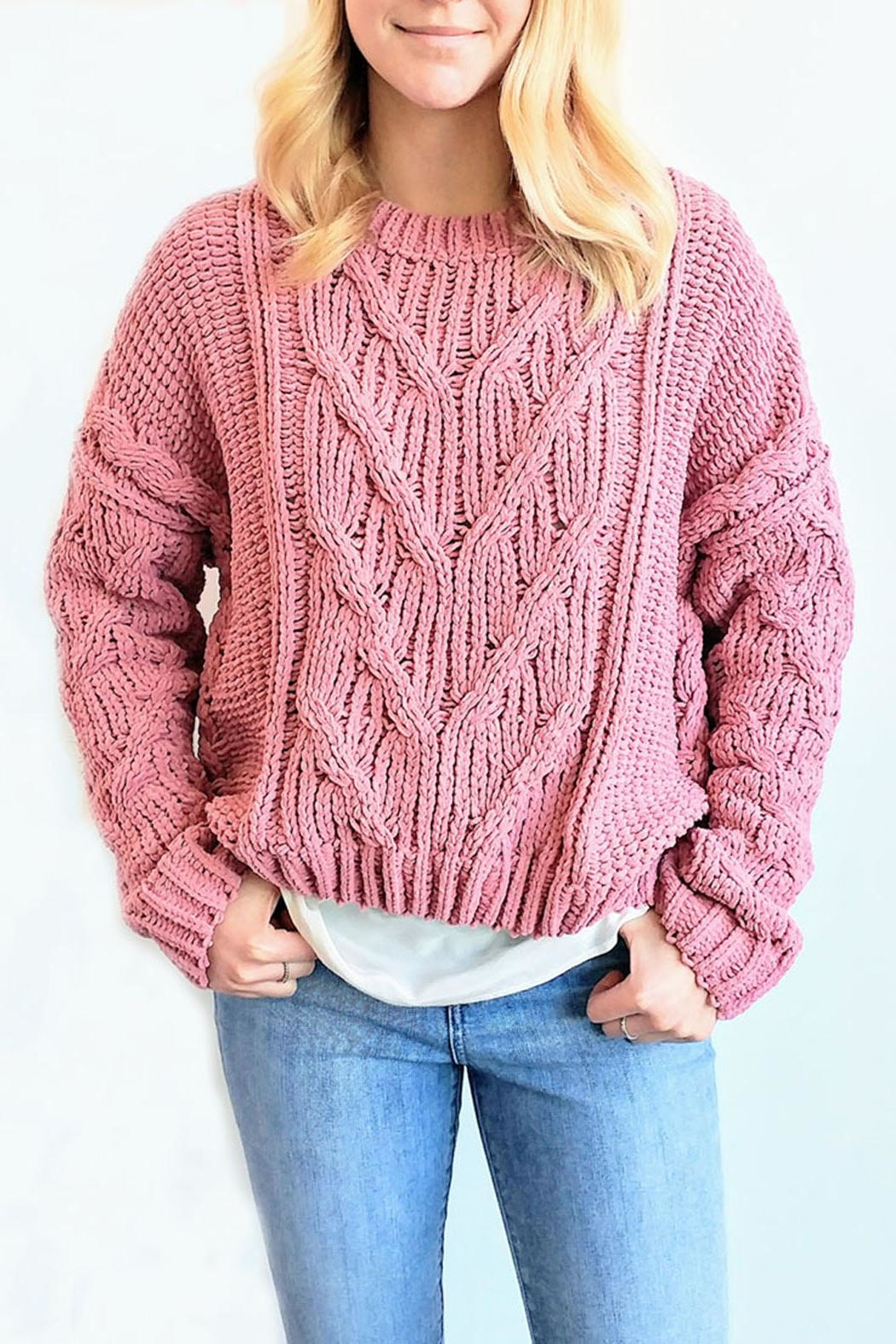 J.O.A. Chunky Cable Sweater - Main Image