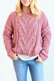 J.O.A. Chunky Cable Sweater - Front cropped