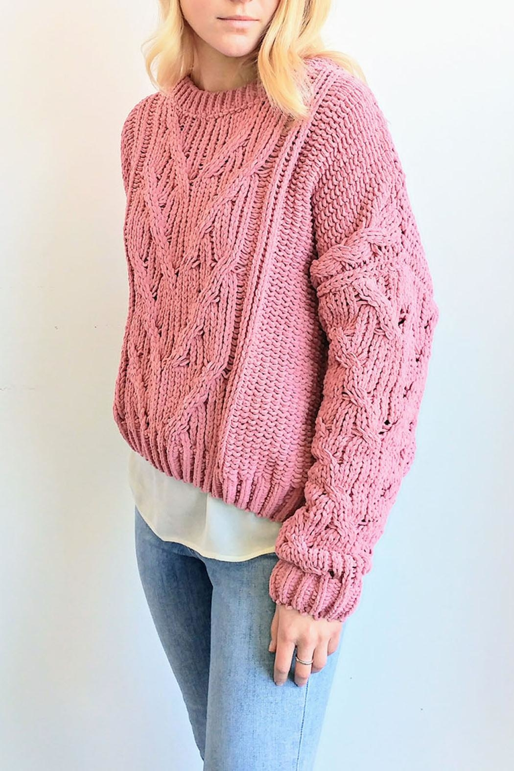 J.O.A. Chunky Cable Sweater - Front Full Image