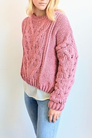 J.O.A. Chunky Cable Sweater - Front full body