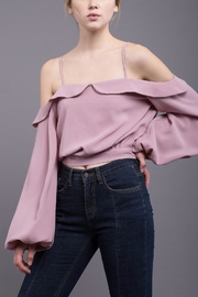 J.O.A. Cold Shoulder Blouse - Product Mini Image
