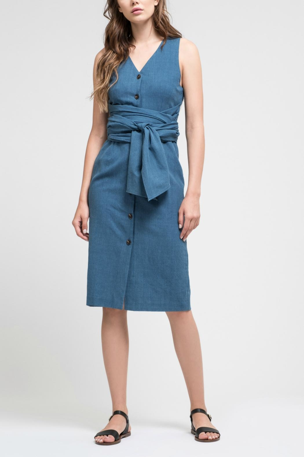 9ecf9b35afdd0 J.O.A. Denim Cotton Dress from New Jersey by Locust Whimsy — Shoptiques