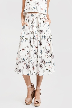 Shoptiques Product: Floral Button-Down Skirt